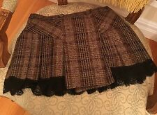 Dolce Gabanna D & G Short Layered Skirt size 40 with lace
