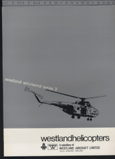 (192) Brochure hélicoptère Aircraft Helicopter Westland Whirlwind series 3