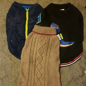 Top Paw Dog  Winter Fleece Sweater Coat Hoodie Sz XL  Nwt lot of 3