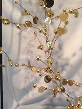 "Gold Sequin and Beads Christmas Garlands 72"" Lot of 2 Kurt Adler $27.99"
