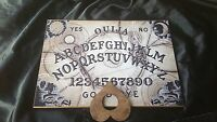 Wooden Ouija Board game & Planchette Instructions. Spirit hunt Pentagram ghost
