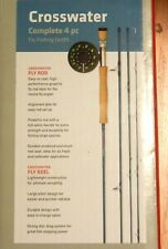"""Redington Crosswater Combo Fly Rod 890-4 9'0"""" 4 Pc #8 New, With Reel Case"""