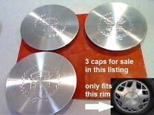 """1995-1999 3 Cadillac Deville Concours Fleetwood Seville center caps 16"""" E2 6.67"""""""