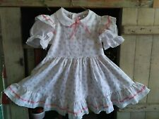 Vtg Sears Perma Prest Winnie the Pooh Dress White Flowers Ruffles Walt Disney 4