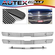 AUTEX Chrome Billet Grille Grill Combo Fit 99-02 Silverado/00-06 Tahoe/Suburban