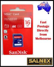 SanDisk 16GB SDHC Memory Card -  Genuine Sandisk Australia With 5 Years Warranty