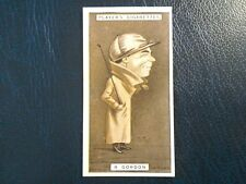J. PLAYER. 1925.   RACING CARICATURES .  1 ODD CARD . NUMBER 18.