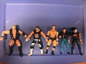 Lot of WCW Wrestling Figures, Toy Biz (5)