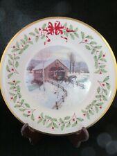 Lenox 2007 Annual Holiday Collector Christmas plate #17 Christmas Covered Bridge