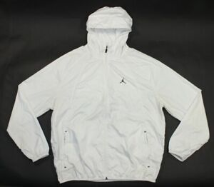White Michael Jordan Jumpman Lightweight Windbreaker Jacket Nylon Mens XL