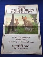 WATERSHIP DOWN CALENDAR 1977: PROMOTIONAL POSTER - ERIC TENNEY ILLUSTRATION