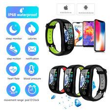 Smart Watch Band F21 Herzfrequenz Blutdruckmessgerät Tracker Fitness Armband DE
