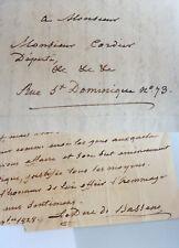 Hugues-Bernard Maret, duc de Bassano (1763-1839): eh. lettera del 1828 sul canale