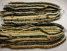 "50 Strands 14"" - 15"" India Handmade Water Buffalo Bone Beads Wholesale Lot (B-9)"