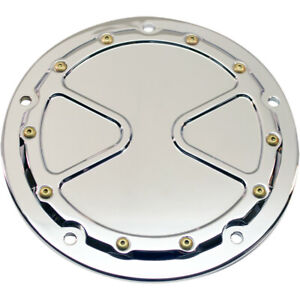 Carl Brouhard Chrome Bomber Series Derby Cover for 1999-2017 Harley Twin Cams