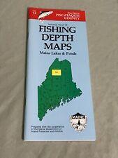 VINTAGE 1987 Maine Lakes & Ponds Fishing Depth Maps Piscataquis County Vol. 14