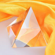 100MM Tall 3 Arris Crsytal Pyramid Paperweight Tetrahedron Prisms