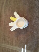 4~Vintage Tupperware Measuring Cups 1/3 1/2  2/3  1 cup
