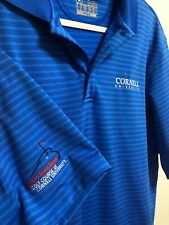 Under Armour Cornell University Golf Course Md Loose Striped Blue Polo