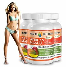 African Mango Cleanse - Natural Weight Loss  (3 Bottles, 180 Capsules)