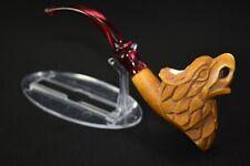 Bold Eagle Pipe New Handmade Block Meerschsum W Case #579