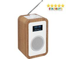 JVC RA-D51 Wooden DAB/FM Radio with Dual Alarm Clock Headphone Jack & Aux-in