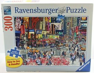 RAVENSBURGER PUZZLE TIMES SQUARE 300 LARGE PIECE FORMAT 135585 2012 EXC COMPLETE