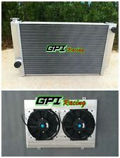 56mm 2 rows ford Falcon V8 XC XD XE XF MT aluminum race radiator +SHROUD+FAN