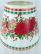 Paper holiday lamp shades ebay small christmas holiday lamp shade cottage roses berries red pink green plaid aloadofball Choice Image