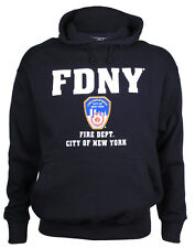 FDNY Full Chest Navy Hooded Sweatshirt Adult X-Large