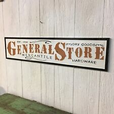 General Store Dry Goods Mercantile Hardware Metal Sign Vintage Style Embossed