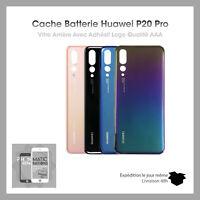 Vitre arrière Huawei P20 Pro Noir/Bleu/Twilight(Aurora)/Rose-Avec Logo + Adhesif