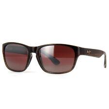 Maui Jim Mixed Plate Sunglasses R721-01 Chocolate Stripe Fade Rose Polarized