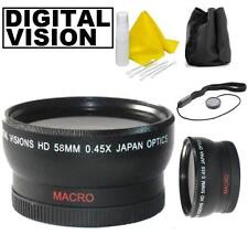 58mm Digital Vision 0.45x Wide Angle Lens For Canon EOS Rebel T7i 800D