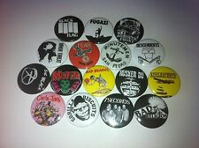 16 Punk badges fugazi misfits etc