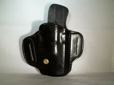 Holster any Glock 9mm/40 cal. 17,19,22,23,26,27. Black leather open top