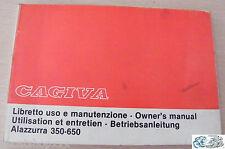 CAGIVA libretto uso e manutenzione Alazzurra 350-650