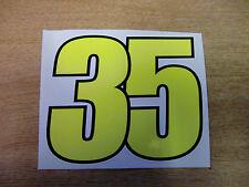 Cal Crutchlow # 35 número de competición Con Adhesivo - 110 mm de alto-MotoGP / Bsb calcomanías