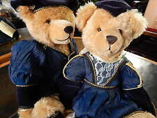 """Limited Edition Teddy Romeo & Juliet Shakespeare Hermann Jointed Grower 16"""" Pair"""