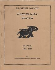 Franklin County Maine Republican Roster 1956-1957