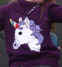 Child's Knitting Pattern. Pull pull Pullover. Licorne, Dk. 24 -34 in (environ -86.36 cm) tour de poitrine.