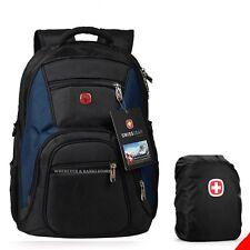 Laptop Computer Men Backpack Blue Swiss  Outdoor Sports School Travel Bag D3L-R