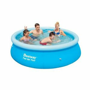 """NEW☀️💦Bestway 10' x 30"""" Fast Set Inflatable Above Ground Swimming Pool' no pump"""