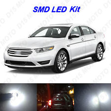 12 x White LED interior Bulbs + License Plate Lights for 2010-2014 Ford Taurus