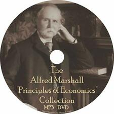 Alfred Marshall Audiobook Collection on 1 MP3 DVD Principles Economics Free Ship