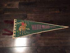 Vintage Whitewood Saskatchewan Pennant Felt Banner 1960's Souvenir Canada RCMP