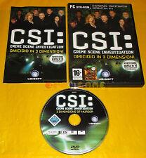 CSI Crime Scene Investigation OMICIDIO IN 3 DIMENSIONI Pc Italiano COMPLETO - C1