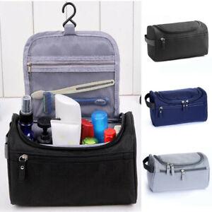 Unisex Travel Wash Bag Hanging Toiletry Large Capacity Shaving Gym Makeup Bag UK