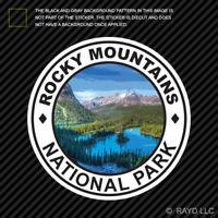 Rocky Mountains National Park Sticker Colorado trail ridge hike camp wilderness