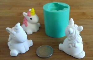 3D Silikonform Einhorn Unicorn / Basteln Hobby Gießform / Kerzen Seifenform DIY